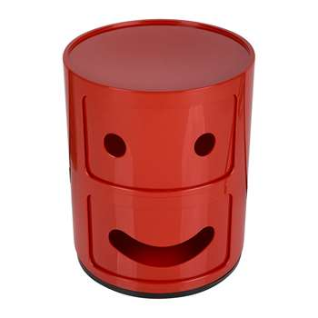 Kartell - Componibili Smile Storage Unit - Red - Smile (H40 x W32 x D32cm)