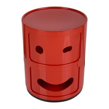 Kartell - Componibili Smile Storage Unit - Red - Wink (H40 x W32 x D32cm)