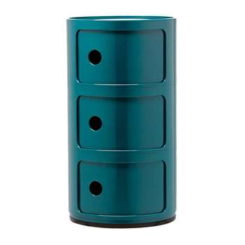 Kartell - Componibili Storage Unit - Blue - Medium (H58.5 x D32cm)