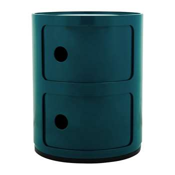 Kartell - Componibili Storage Unit - Blue - Small (H40 x D32cm)