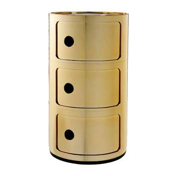 Kartell - Componibili Storage Unit - Gold - Large (Height 58.5cm)