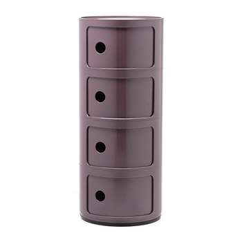 Kartell - Componibili Storage Unit - Purple - Large (H77 x W32 x D32cm)