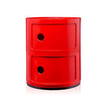 Kartell - Componibili Storage Unit - Red - Small (H40 x W32 x D32cm)