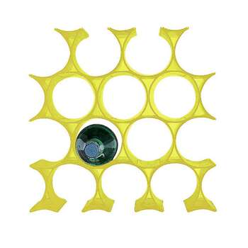 Kartell - Infinity Bottle Rack - Yellow (H9.5 x W5.7 x D14.5cm)