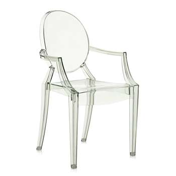 Kartell - Louis Ghost Armchair - Crystal Green (94 x 54cm)