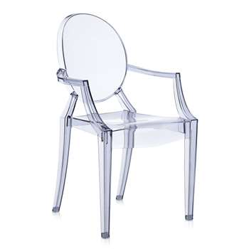 Kartell - Louis Ghost Armchair - Ice Blue (H94 x W54 x D55cm)