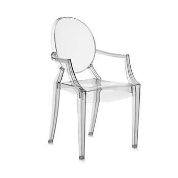 Kartell - Louis Ghost Armchair - Smoke Grey (94 x 54cm)