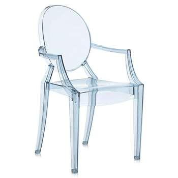 Kartell - Loulou Ghost Children's Chair - Light Blue (62.5 x 39cm)