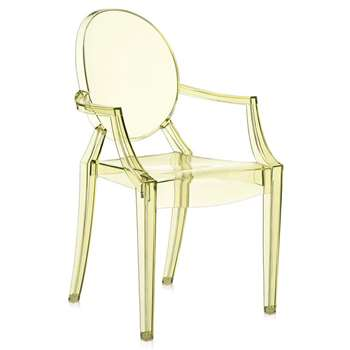 Kartell - Loulou Ghost Children's Chair - Yellow (62.5 x 39cm)