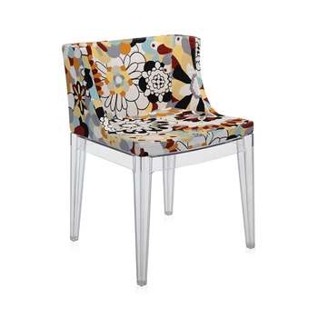 Kartell - Mademoiselle 'a la mode' Transparent Chair - Vevey Burnt Tones (74 x 55cm)