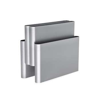 Kartell - Magazine Rack - Silver (H34.5 x W40 x D18.5cm)