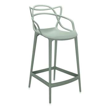 Kartell - Masters Stool, Sage Green, Seat Height 65cm (H95 x W50 x D50cm)