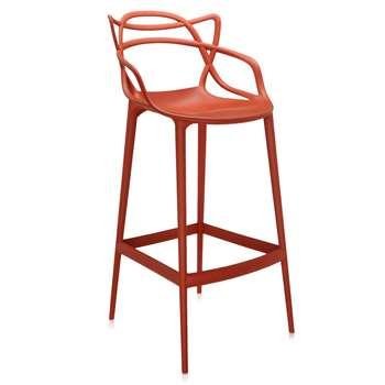 Kartell - Masters Stool - Rusty Orange - 75cm (H107.95 x W56 x D46.5cm)