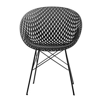 Kartell - Matrix Outdoor Chair - Black (H77 x W61 x D55cm)
