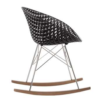 Kartell - Matrix Rocking Chair - Black/Chrome (H77 x W61 x D67cm)