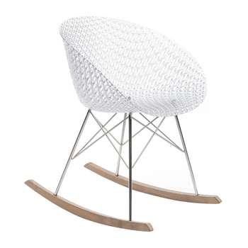 Kartell - Matrix Rocking Chair - Crystal/Chrome (H77 x W61 x D67cm)