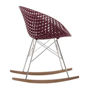 Kartell - Matrix Rocking Chair - Plum/Chrome (H77 x W61 x D67cm)