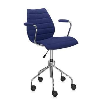 Kartell - Maui Soft Swivel Armchair - Blue (81 x 58cm)