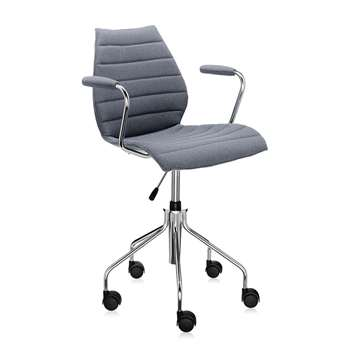 Kartell - Maui Soft Swivel Armchair - Grey (81 x 58cm)