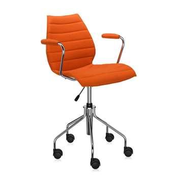 Kartell - Maui Soft Swivel Armchair - Orange (81 x 58cm)