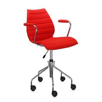 Kartell - Maui Soft Swivel Armchair - Red (81 x 58cm)