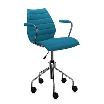 Kartell - Maui Soft Swivel Armchair - Teal (81 x 58cm)