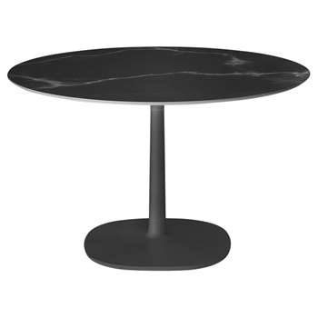 Kartell - Multiplo Round Marble Side Table - Black (H74 x W78 x D78cm)
