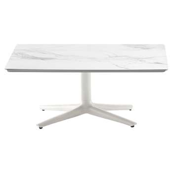 Kartell - Multiplo Square Marble Coffee Table - White (H43 x W99 x D99cm)