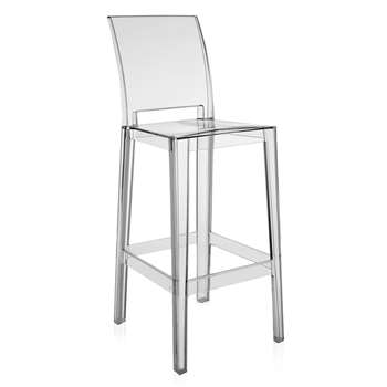 Kartell - One More Please Stool 75cm - Crystal (H109 x W37.5 x D45.5cm)