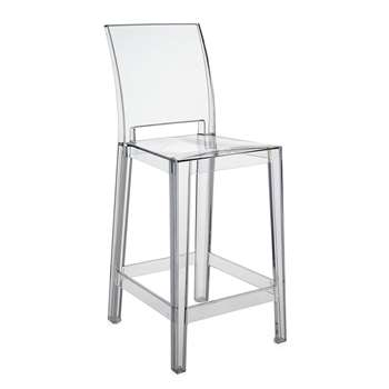 Kartell - One More Please Stool - Crystal (100 x 38cm)
