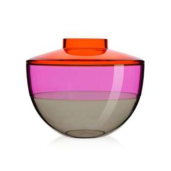 Kartell - Shibuya Vase - Orange/Violet/Smoke (22 x 27cm)