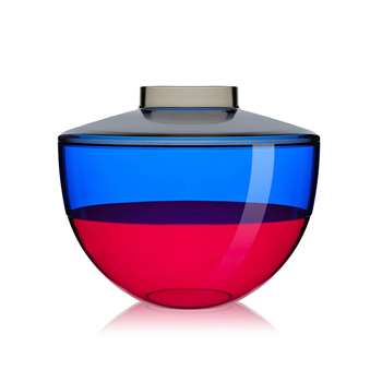 Kartell - Shibuya Vase - Smoke/Blue/Cherry (22 x 27cm)