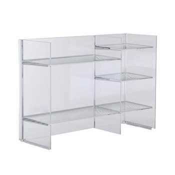 Kartell - Sound-Rack Shelf - Crystal (53 x 75cm)