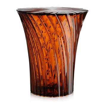 Kartell - Sparkle Stool/Side Table - Amber (H44 x W38 x D38cm)