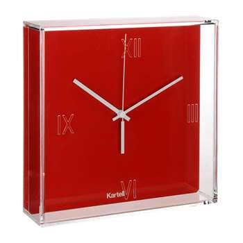 Kartell - Tic & Tac Wall Clock - Red (H30 x W30 x D8cm)