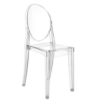 Kartell - Victoria Ghost Chair - Crystal (89 x 38cm)