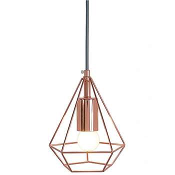 Kasper Diamond Pendant Light (H20 x W16 x D16cm)