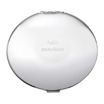 kate spade new york - Silver Street Hello Sunshine Compact Mirror (7 x 7cm)