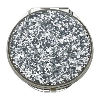 kate spade new york - Simply Sparkling Compact Mirror - Silver (7 x 7cm)