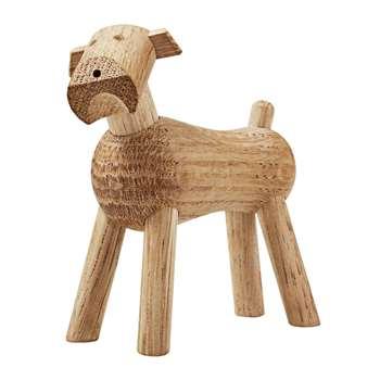 Kay Bojesen - Dog Tim Wooden Figurine - White Oak (H7.5 x W7.3 x D3.2cm)