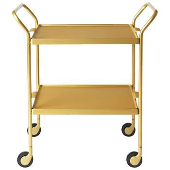 Kaymet Modern Tea Trolley, Gold (H65 x W53.5 x D35.5cm)