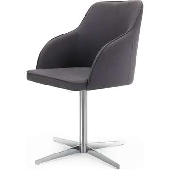 Keira Office Chair, Lead Grey (84 x 55cm)