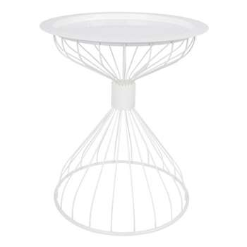 Zuiver Kelly Side Table with Tray in Contemporary White (57 x 50cm)