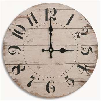 Kentfield Antique White Wall Clock (34 x 34cm)