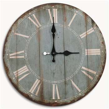 Kentfield French Grey Wall Clock with Roman Numerals (34 x 34cm)