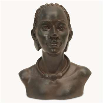 Kenton Bust in Rusty Finish (H23.7 x W19.8 x D14.3cm)