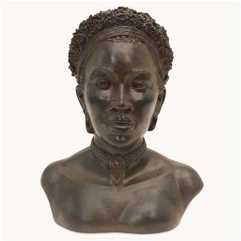 Kenton Bust in Rusty Finish (H24.8 x W20.2 x D15cm)