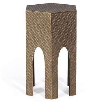 Keras Embossed Side Table (H60 x W40 x D35cm)