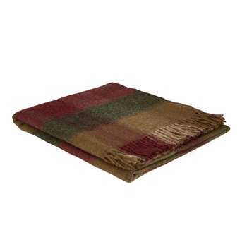 Keswick Check Cranberry Throw (H140 x W180cm)