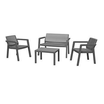 Keter Emily 4 Seater Rattan Effect Sofa Set